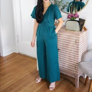 Turquoise / Teal Jumpsuit with Open Back